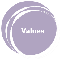 Values: trust, effort, adding value, professionalism, partnership, results.